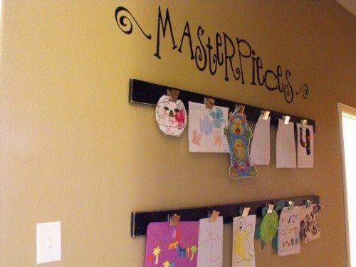 hanging children art work | Hanging Children's Art on Magnetic Strips | My Sweet Charlie