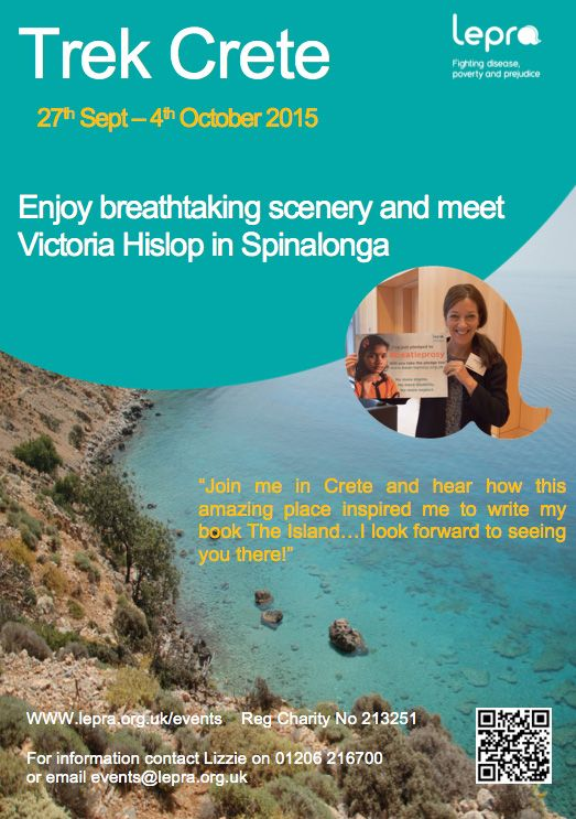 Trek Crete with Lepra and meet Victoria Hislop.