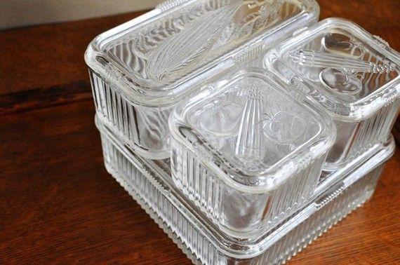vintage refrigerator dish images   Vintage Refrigerator Dish Set by estatehound on Etsy