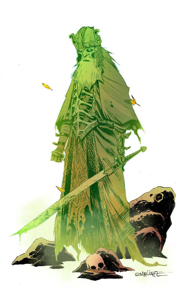 Aparição fantasmagórica comum. Um guerreiro que morreu a muitos seculos e que ataca quem se aproxima.