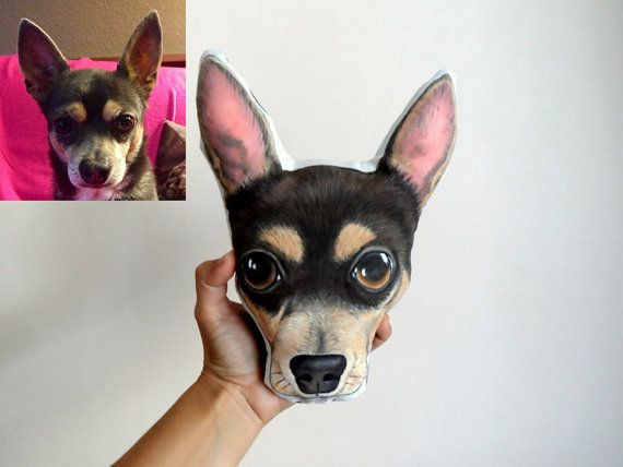 Custom Pet Portrait  Plush Pillow Personalized by ShebboDesign