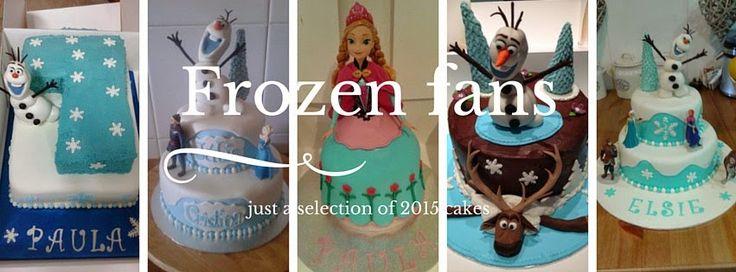 MATINA CAKES: fans de frozen #frozen #elsa #anna #olaf #disney #princesas #sweet #cakes #fondant #pasteles
