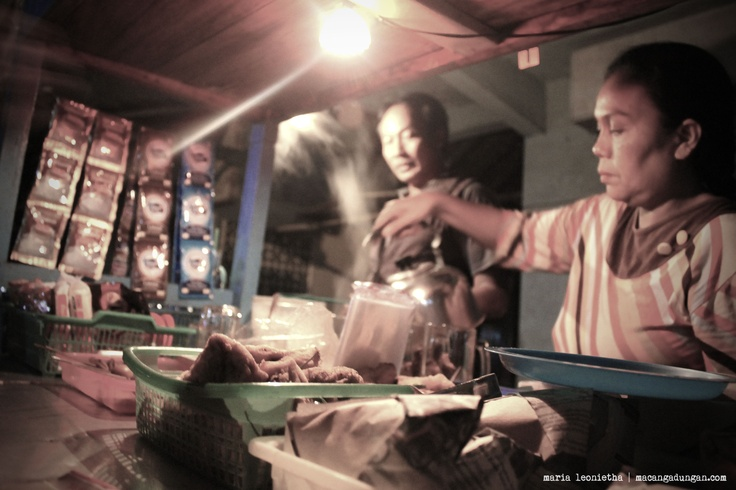 An angkringan, a humble food stand. Located on MT Haryono Road.