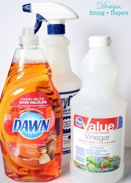 Pinterest Cleaning Tip Tested - DIY Dawn Shower Cleaner - Design, Dining + Diapers