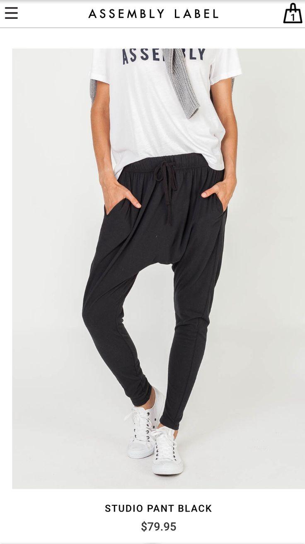 Black slouchy pants