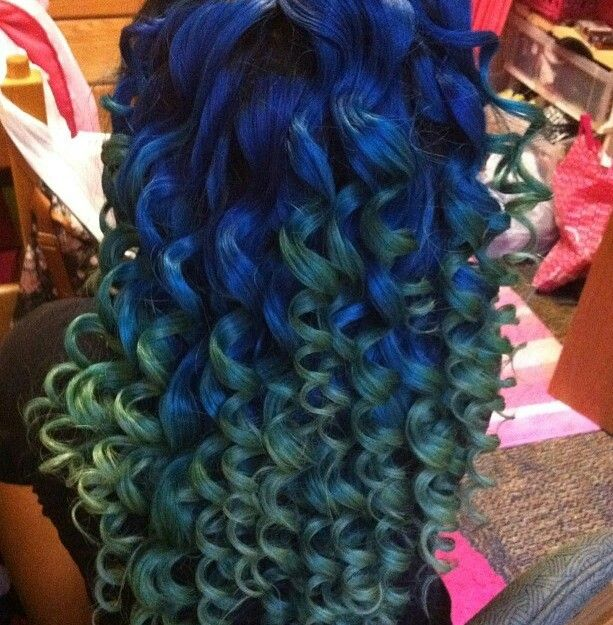 Weave Hairstyles Ombre Blue Green Hair Cute | Let Your ...