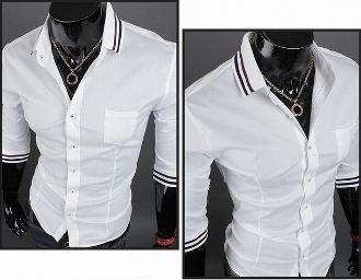 Casual Spring / Summer fashion? Men's ¾ Length Sleeve Shirt