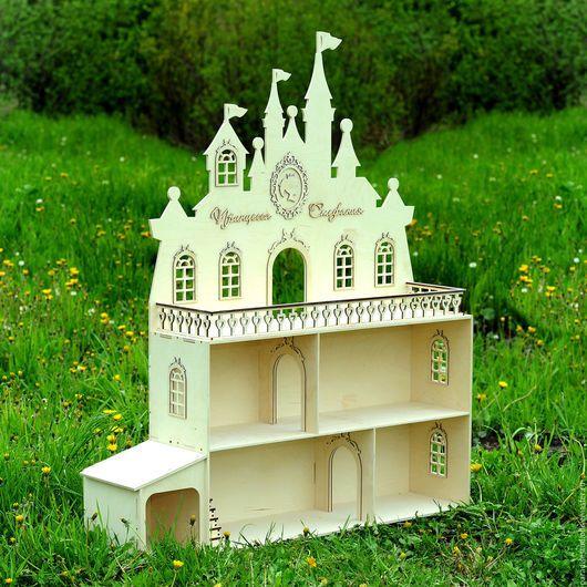 """Кукольный дом ручной работы. Ярмарка Мастеров - ручная работа. Купить Кукольный дом """"Замок принцессы"""". Handmade. Кукольный домик"""