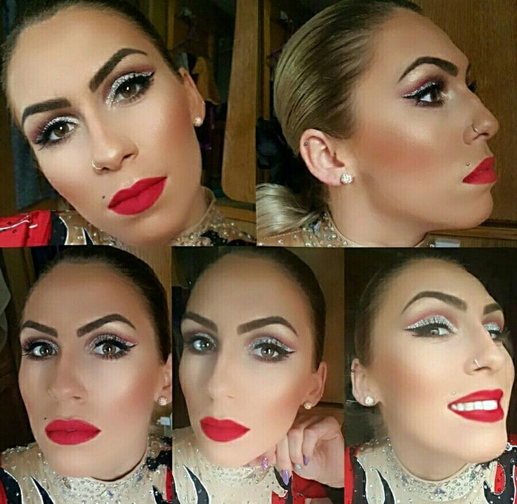 I love red lips 👄 #makeuplover #makeup #showgirl #circus #aerialist #redlips #sephora #mac #stargazer #glitter #grimascakemakeup #revolution #nyx #rimmellondon #lancome #kiko #catrice