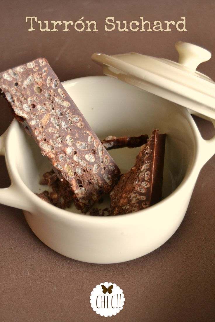 Receta de #turrón de chocolate tipo Suchard con #Thermomix