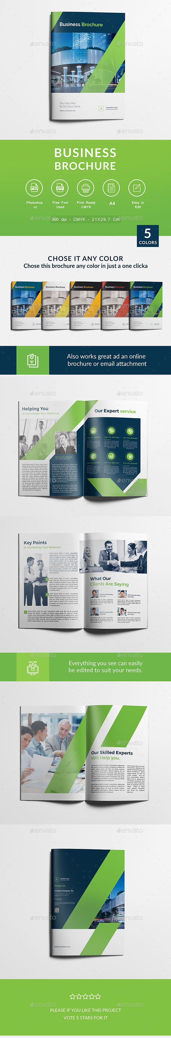 Business Brochure  — PSD Template • Only available here ➝…