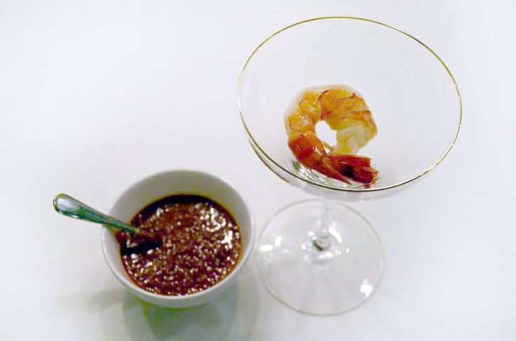 Add some grated horseradish to make your shrimp cocktail sauce. Enjoy ...