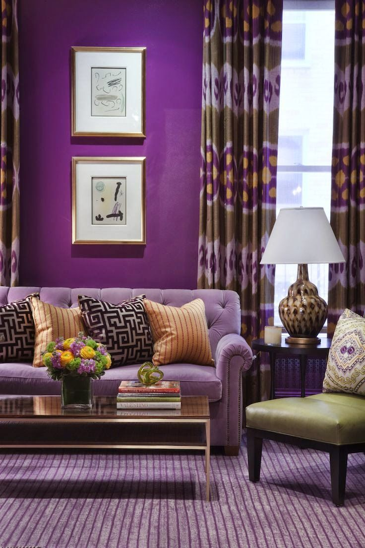Decorating With The Purple Green Combination Purple Home D
