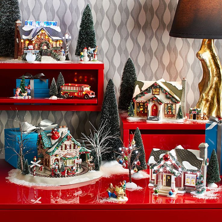 72 Best Images About Snow Village Display For Small Spaces