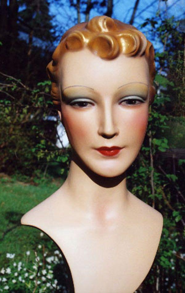 vintage mannequin bust crazy for vintage mannequins pinterest vintage mannequin and vintage. Black Bedroom Furniture Sets. Home Design Ideas
