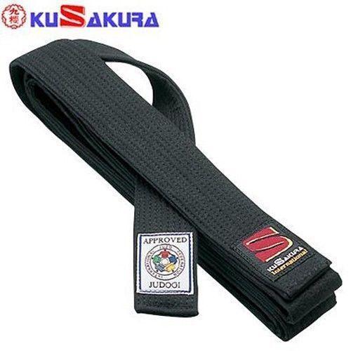 Belts and Sashes 73981: Kusakura Judo Kuro Obi Joib Black Belt Ijf Official From Japan BUY IT NOW ONLY: $77.0