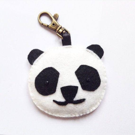 Panda Bag Charm Zip puller panda bag charm teddy by BellaandRoo