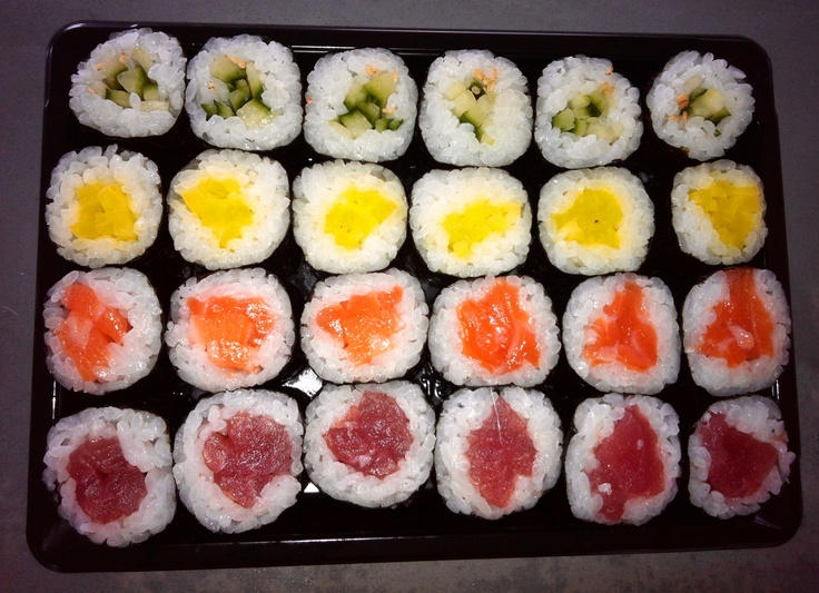 Sushi color palet