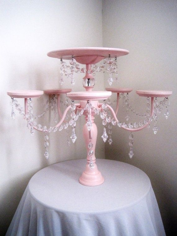Crystal Chandelier Cake and Cupcake Stand by ShabulousChandeliers, $ ... for desserts or centerpieces. Reuse after in many ways.