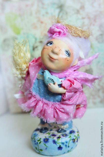 Смешные Люди- Пташки(Она) - розовый,кукла ручной работы,подарок,подарок на любой случай