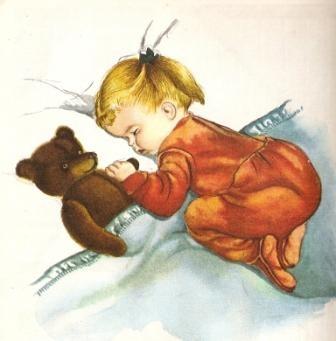 Slapen vintage illustration