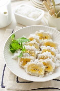 Indonesian Food. Pisang Rai Bali. Coconut Banana from Bali.