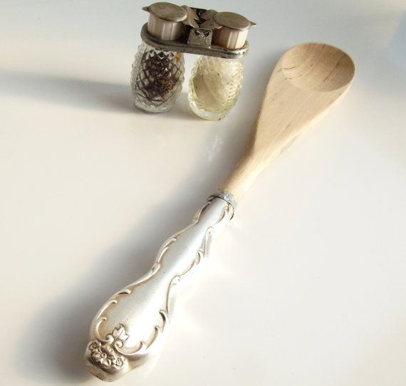 Upcycled Wooden Spoon  Recycled Silverware by SpoonerZ on Etsy, $9.99