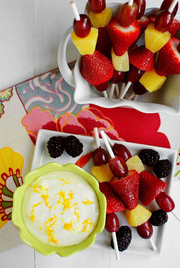 Fruit Dip made with marshmallow cream and cream cheese