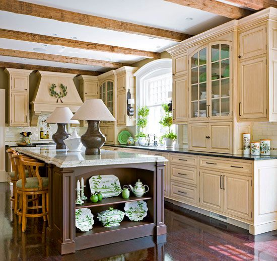 Kitchen Island Yes Or No: 1000+ Ideas About Rustic Cherry Cabinets On Pinterest