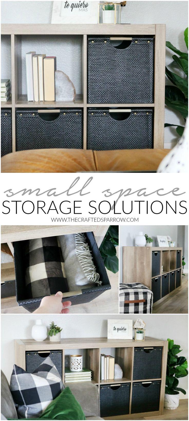 Small Space Storage Solutions     #BHGLiveBetter #ad #Storage #organization