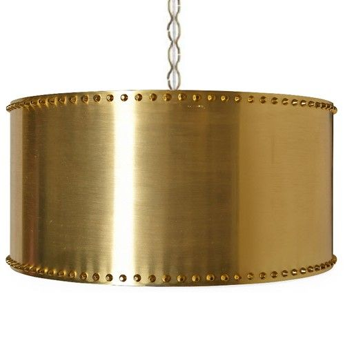 You're Riveting! Pendant in Brass by Taylor Burke Home.