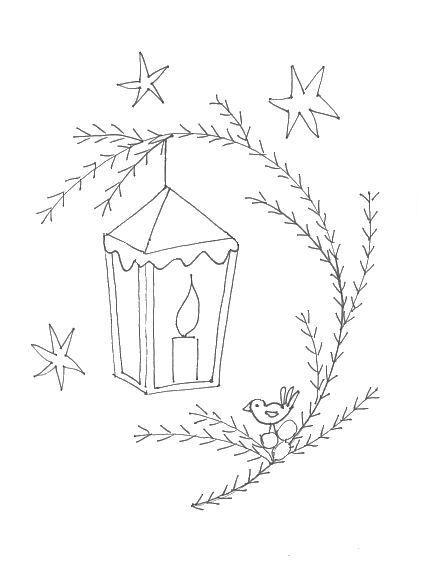*Redwork Noël chez Broderie d'Antan*