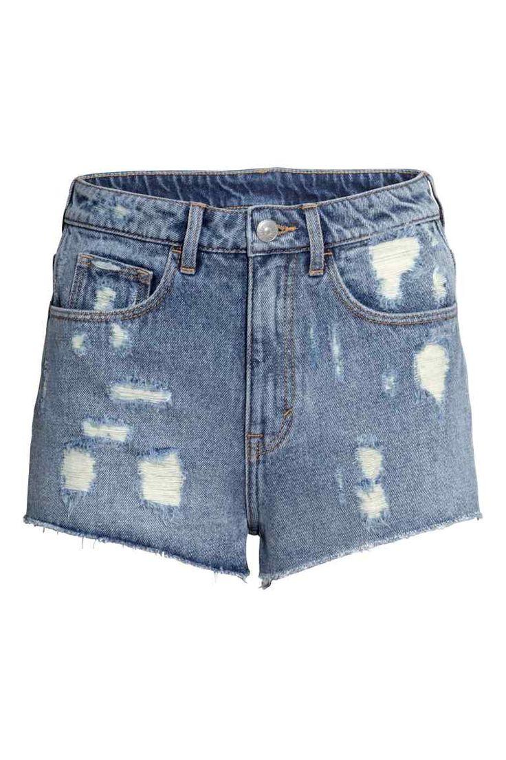 Calções de ganga High waist | H&M