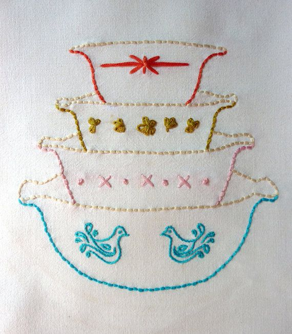 Beautiful This PDF Pattern Is Part Of My New Vignette Series Of Hand Embroidery  Patterns. Using My Original Artwork, Vintage Bowls Focuses On Just One Part 16