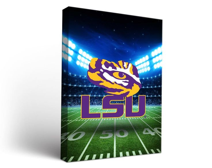 Louisiana State University LSU Tigers Canvas Wall Art Stadium Design (18x24)