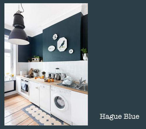 Farrow & Ball Hague Blue + Kitchen