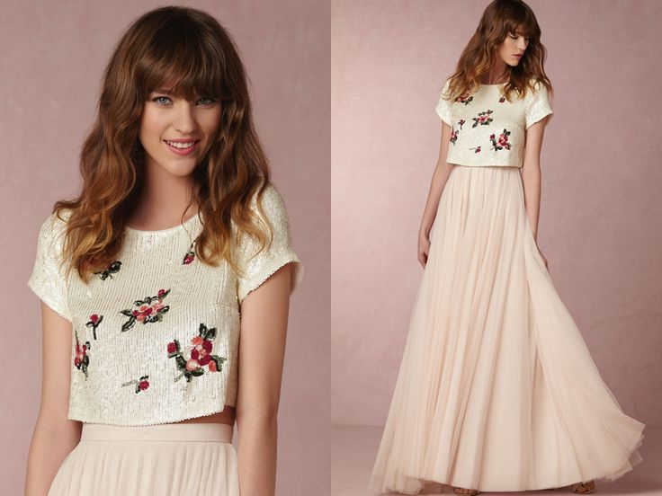 Mix and Match – Create Your Own Wedding Gown! 15 Totally Chic Crop Tops We Love!