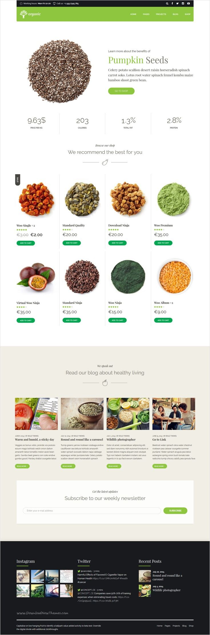 Organic Food is a awesome 9 in 1 #WordPress theme exclusively built for #food #store #webdev nutritionist, health coach, cooking school, delivery and farm websites download now➩ https://themeforest.net/item/organic-food-nutritionist-food-wordpress-theme/18029019?ref=Datasata