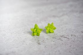 succulent polymer clay earring