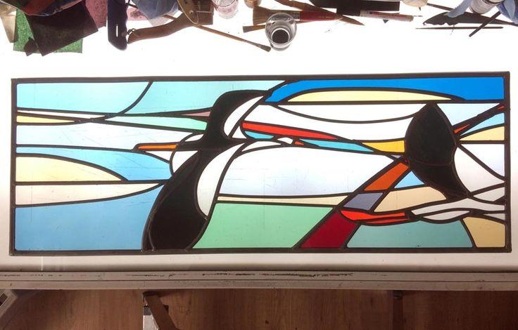 Geert Cooijmans - Ooievaars 2016. Bovenlichten veranda :: Glassartist | Eindhoven |Stainedglass | Glas in Lood