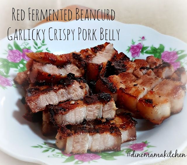 We are the DinoFamily 我們是恐龍家族: Foodie Fridays - Red Fermented Beancurd Garlicky Crispy Pork Belly
