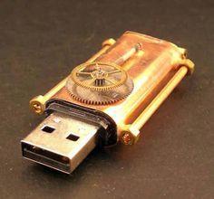 Steampunk Copper USB Drive