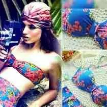 Trajes De Baño Retro Vintage Push Up Cintura Alta!!