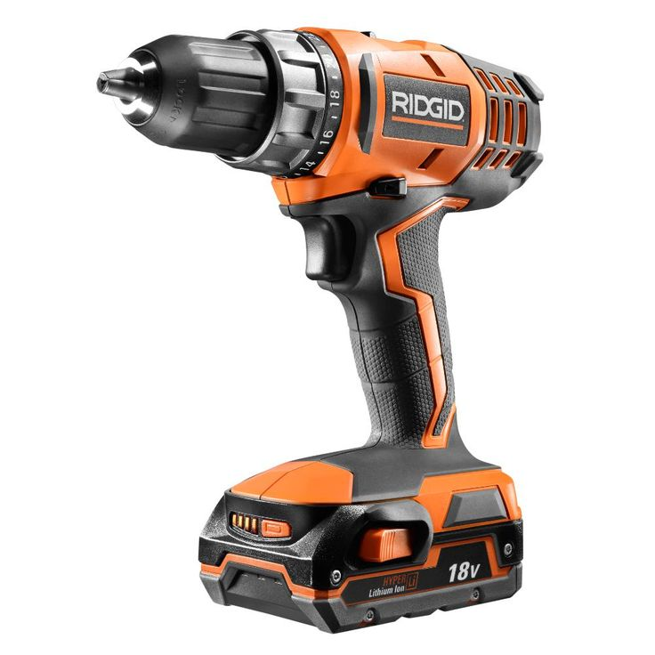 RIDGID 18-Volt Cordless Lithium-Ion 1/2 in. Compact Drill/Driver Kit