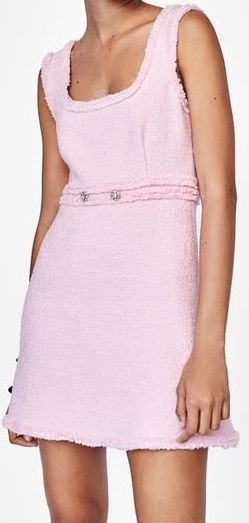 6f7e5e1b Zara Tweed mini pink dress 2018 spring   My Closet   Dresses, Tweed ...