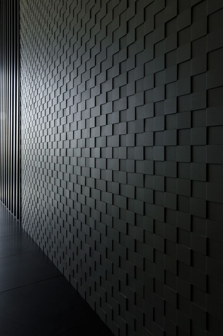 culdesac urbatek showroom designboom architecture design magazine black brick wallblack - Brick Design Wall