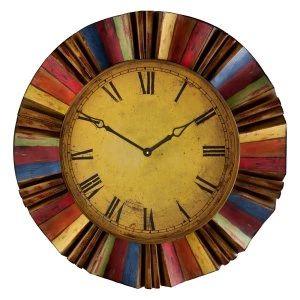 George Nelson Multi-Color 18.5 in. Sunburst Wall Clock - Wall Clocks at Hayneedle