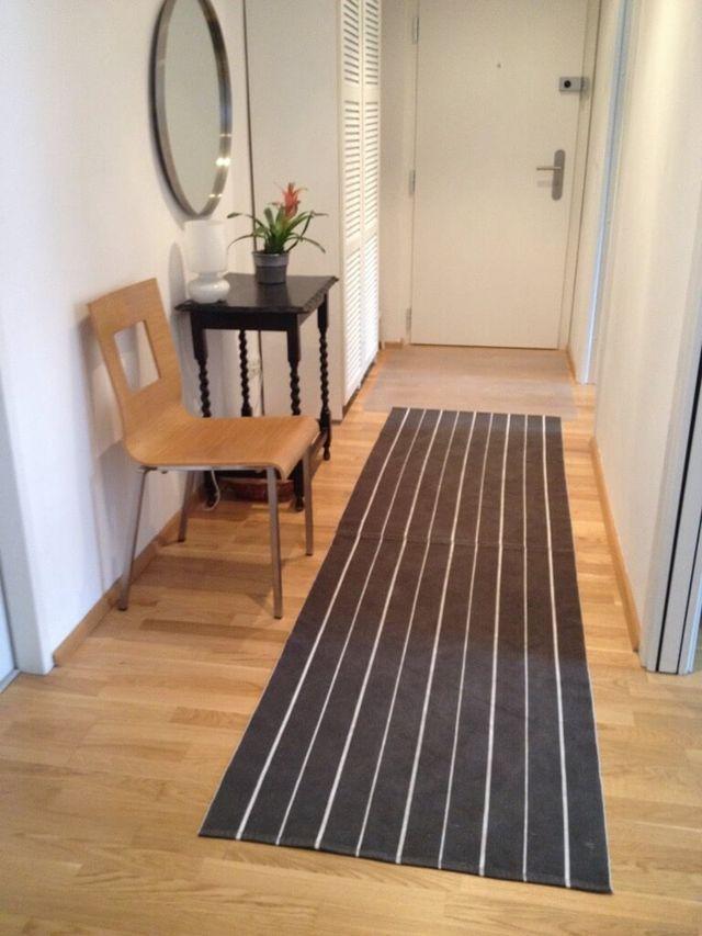 hall of stripes a hallway runner rug diy
