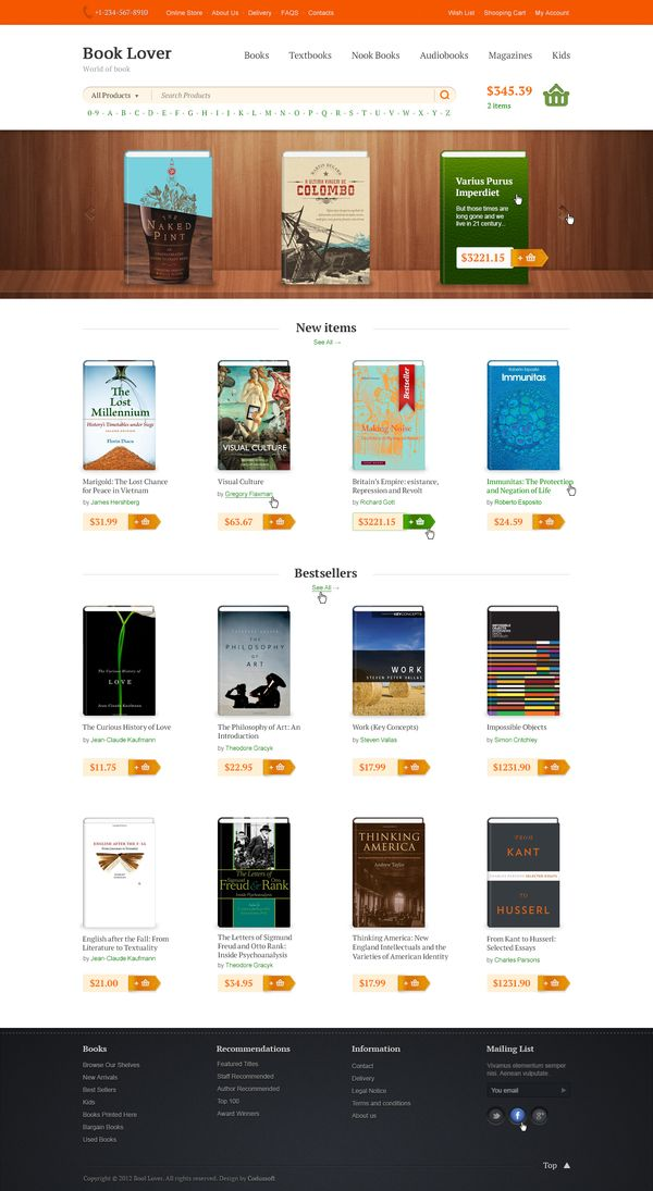 Booklover by basov design, via Behance