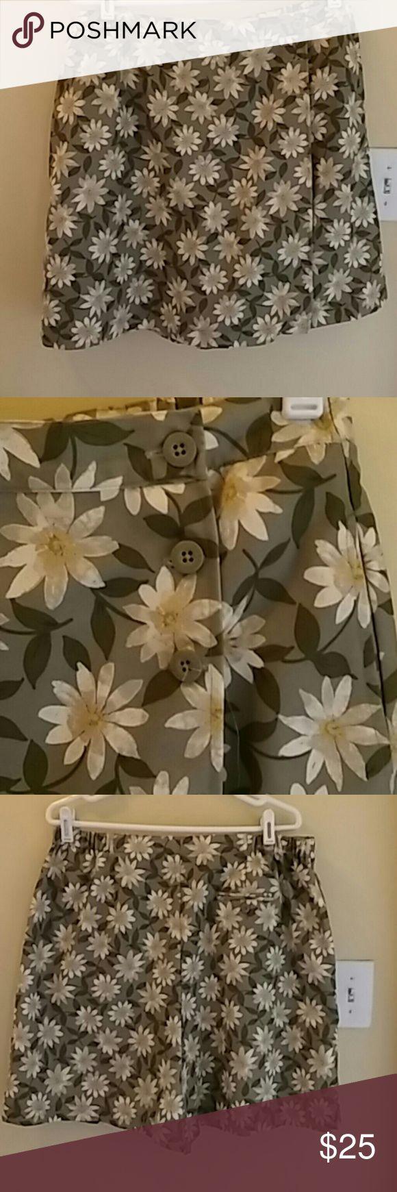 Karen Scott sport petite Flower print, skirt skirt shorts Karen Scott Skirts